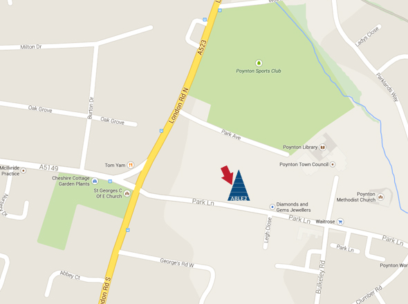Map of our location in Macclesfield