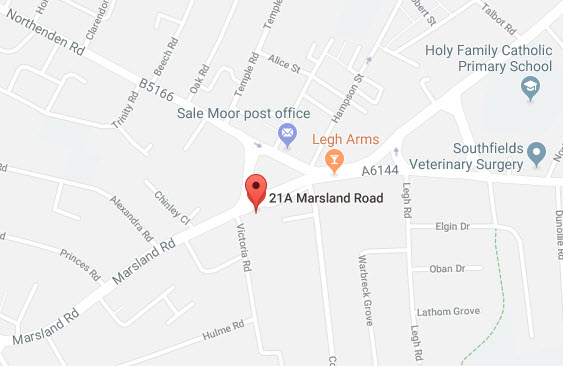 Map of our location in Sale